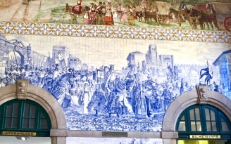 Tile Mural In Porto Train Station
