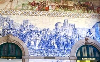 Tile Mural In Porto Train Station