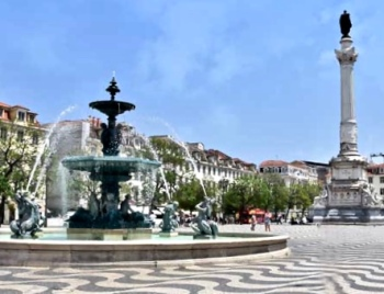 Rossio Square In The Baixa District