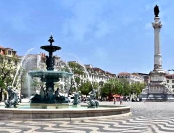Rossio Square In The Baixa District