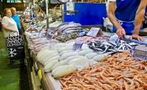 Fish Stall At Mercado de Abastos
