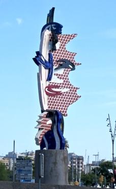 Barcelona Head By Roy Lichtenstein, Port Vell
