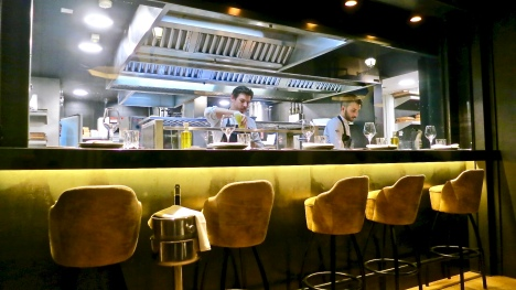 Informal Restaurant's Open Kitchen