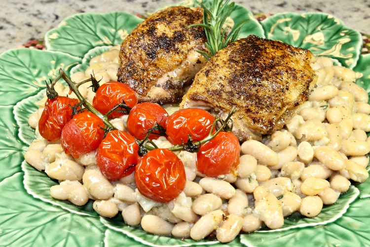 white beans with lemon dressing