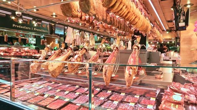 Jamón Ibérico At Mercat de la Boqueria