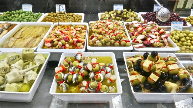 Marinated Olives And Vegetables
