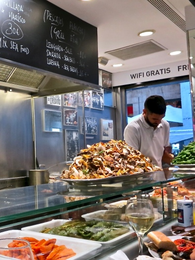 Wild Mushrooms And Vegetables At Kiosk Universal