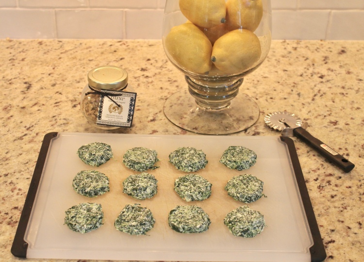 spinach and goat cheese rounds