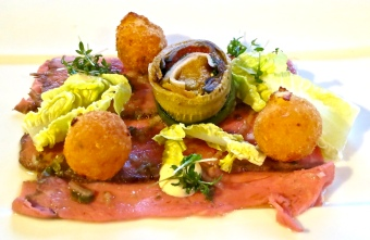 Roast Beef, Croquettes And Vegetable Terrrine