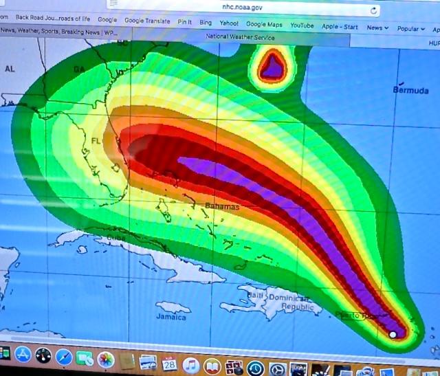 Hurricane Dorian Projection