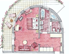Floorplan Bareiss Rotunda Apartment