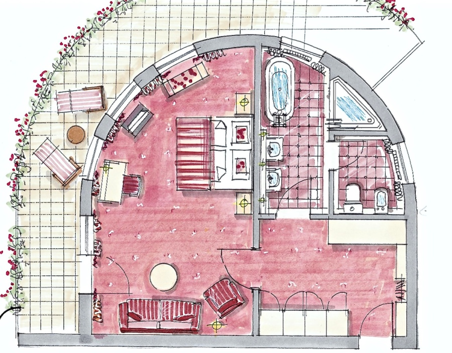 Floorplan Bareiss Rotunda Apartment