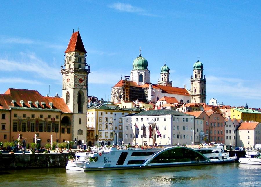 Cruise Ships Dock In Passau