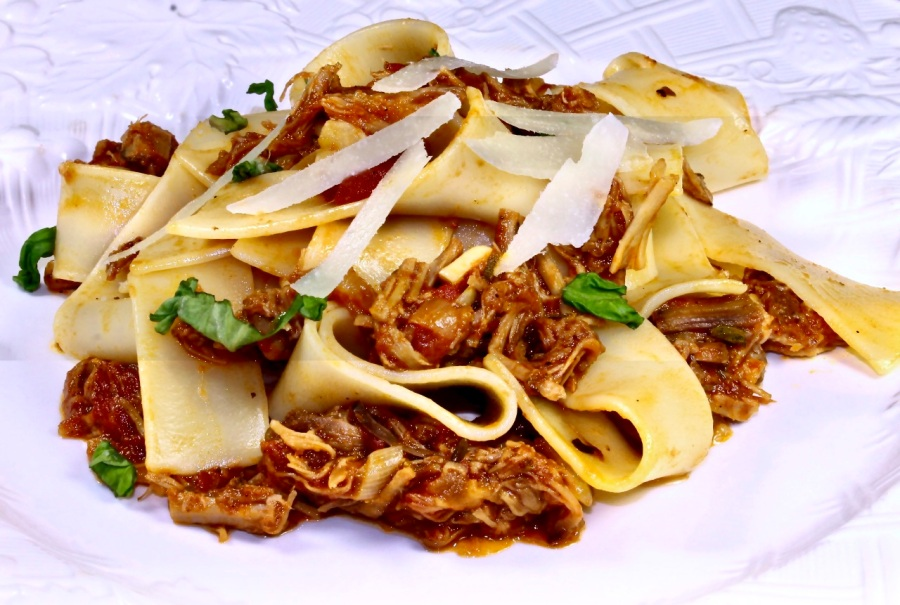 pappardelle with braised pork