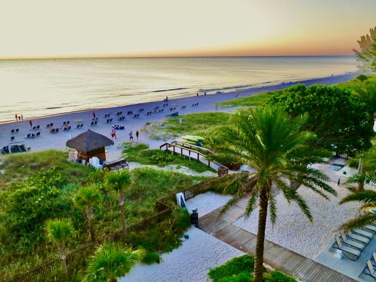 Florida tropical white sand beach