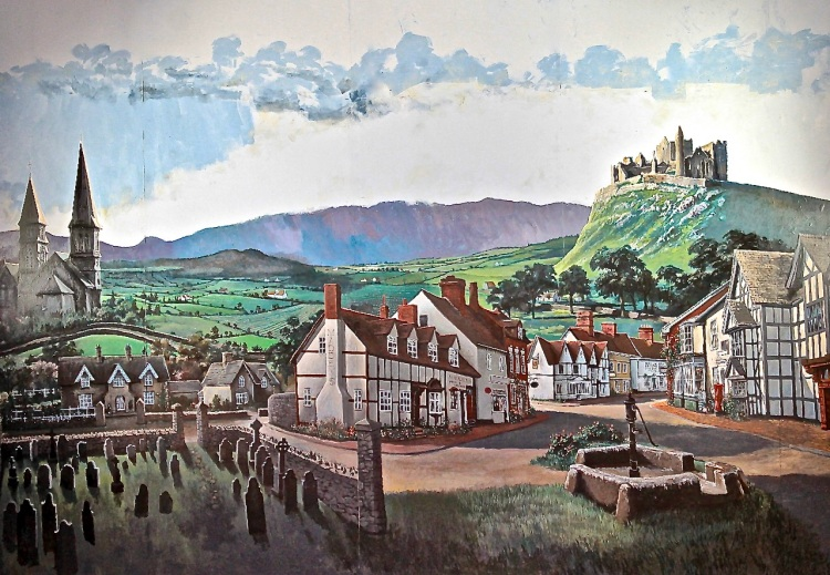 mural of an Irish village