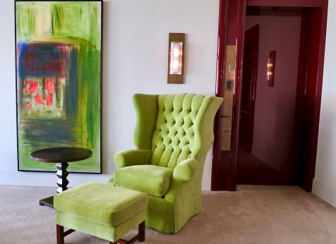chartreuse chair