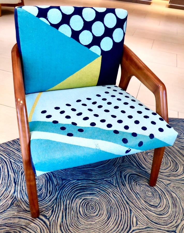 vibrant upholstered chair