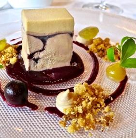 foie gras with grapes and caramel