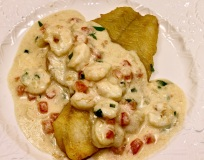 flounder with shrimp cream sauce