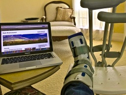 coping with crutches