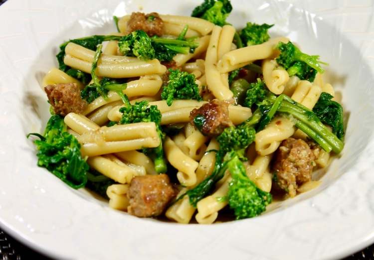 Casarecce Pasta with Italian Sausage and Broccoli Rabe