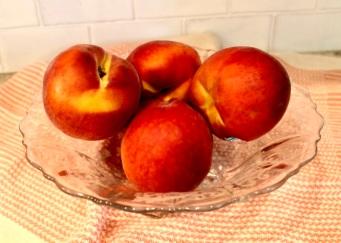 large ripe peaches
