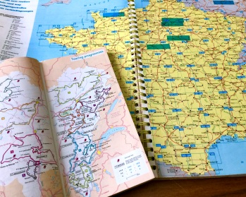 country atlas for a road trip