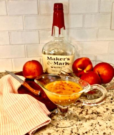maker's mark bourbon peach sauce