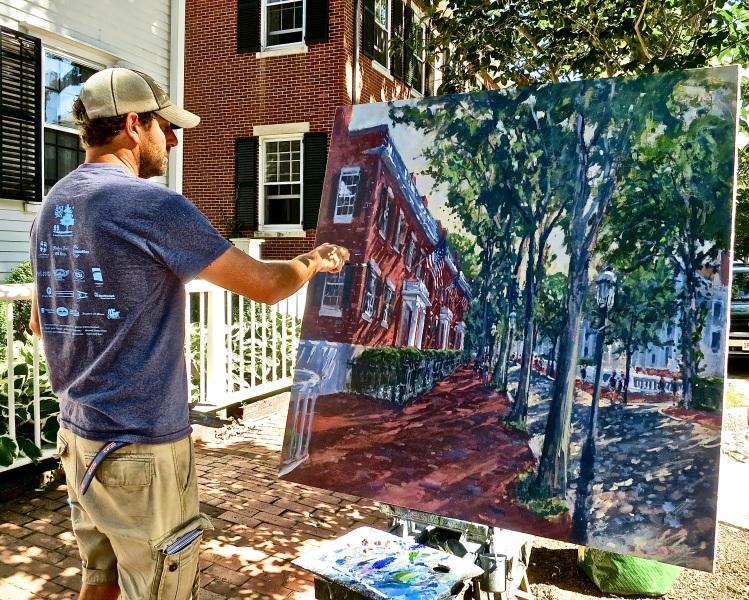 "Nantucket Painter Illya Kagan Painting ""The Three Bricks"""