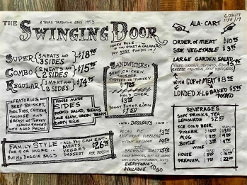 the swinging door menu