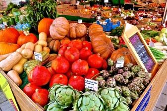 fresh produce at the Viktualienmarkt.