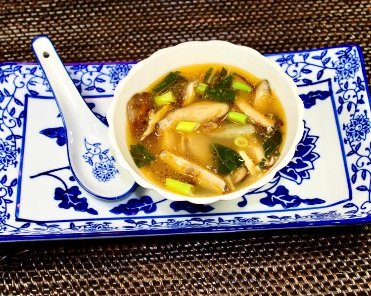 chicken shiitake mushroom and Bok Choy soup