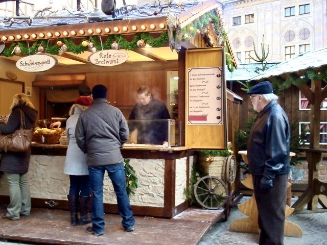 christmas food stall