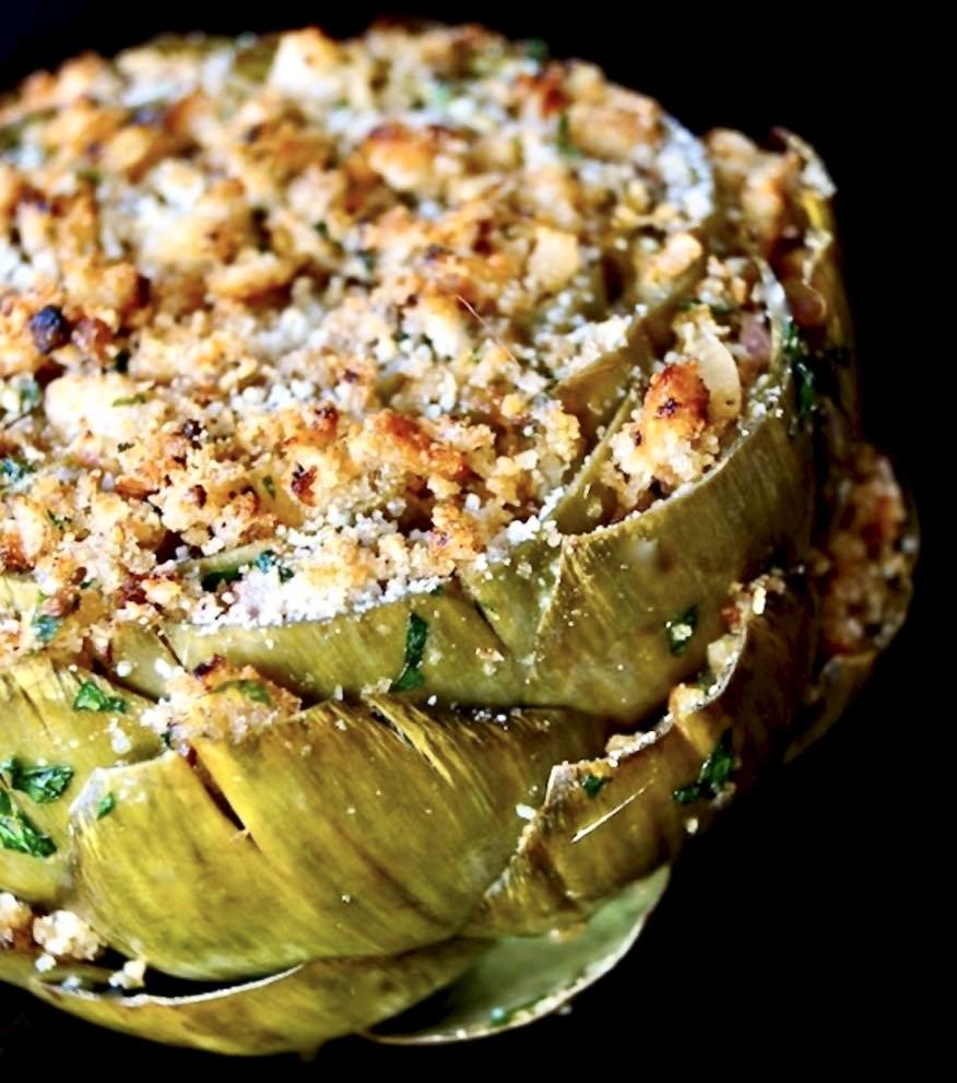 baked stuffed artichoke