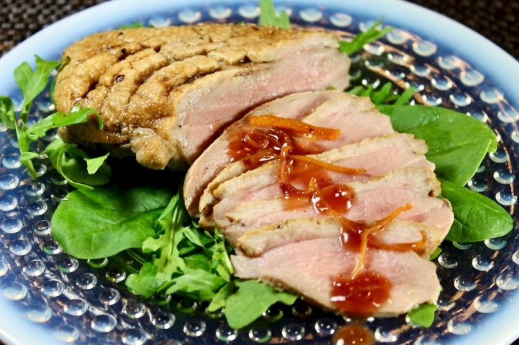 duck breast with Cumberland sauce