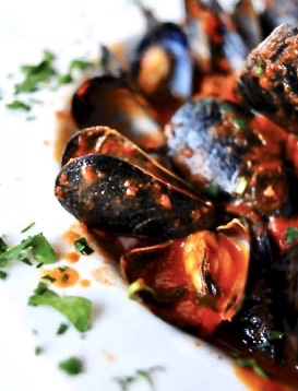 mussels come with entree