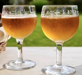 a refreshing glass of cider