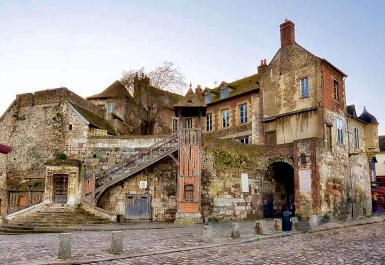 part of the city walls of Honfleur once the former home of the King's lieutenant