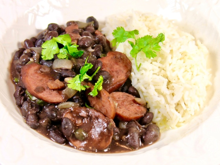 black beans and sausage Brazilian style