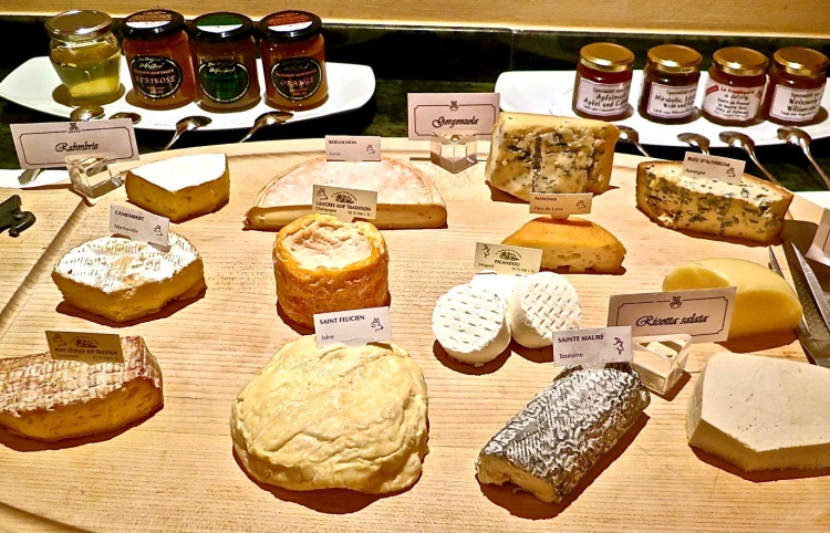 selection of regional cheese