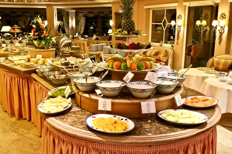 breakfast buffet at hotel bareiss
