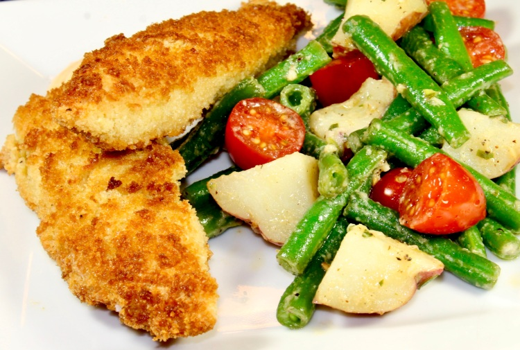 panko and almond crusted chicken tenders