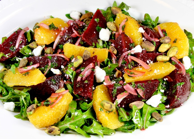 beet orange and arugula salad