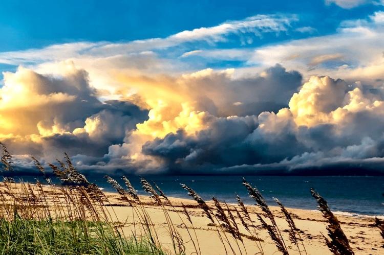 storm approaching treasure coast