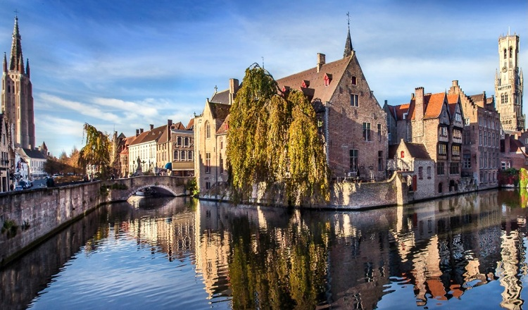 one of the most beautiful views in Bruges