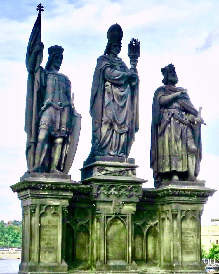 statues along the Charles Bridge