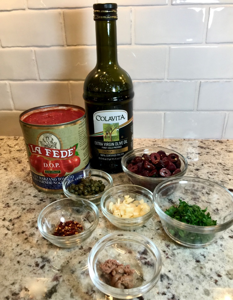 ingredients for puttanesca sauce