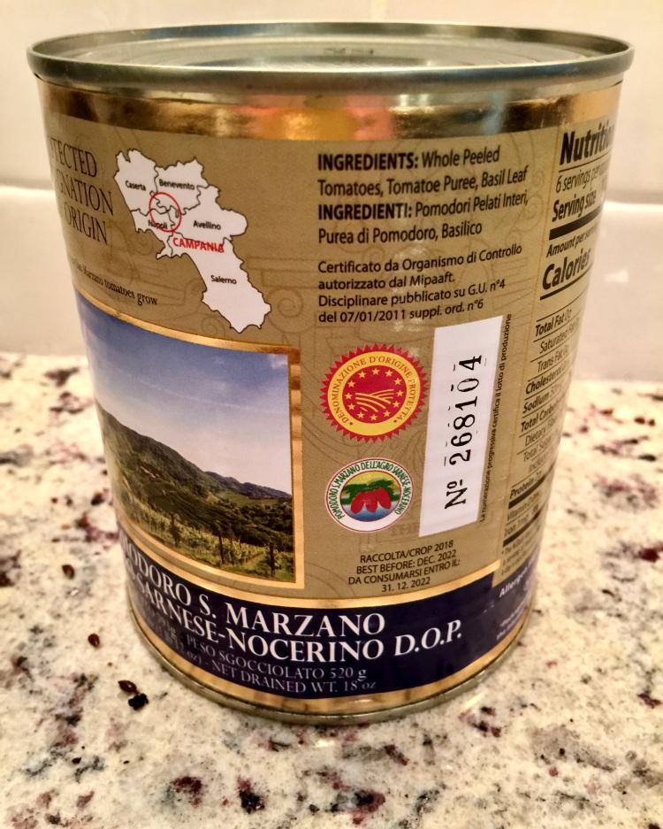 authentic San Marzano tomatoes